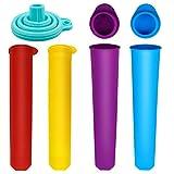 Hysagtek 4 Stück Eis-Pop-Form Silikon Popsicle Form Push Up Eis Lolly Maker Formen mit Loading...