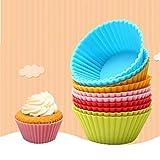 Litthing 12 Stück Cupcake-Formen aus Silikon, 7cm Muffinförmchen,Wiederverwendbare Backformen aus...