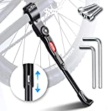 HENMI Fahrradständer 4 cm Höhenverstellbar und Universal Seitenständer, Dauerhaft Bike Stand...