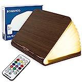 Buchlampe Holz mit Farbwechsel 12 Farben und Timer – BONNYCO | LED Buchlampe Geschenk für Frauen...