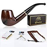 FeelGlad tabakpfeife, 5 in 1 Premium pfeifen Set, Handgemachte Klassische Pfeife aus edlem Holz für...