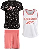 Reebok Girls 3-Piece Bike T-Shirt, Tank Top, and Shorts Set, Size 6X, Strawberry'