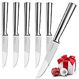 homgeek Steakmesser, Steakmesser Set 6-teilig, Besteck Messer, Steak Knife
