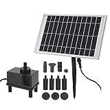 Liineparalle 10V/5W Mehrfachsprhkpfe Solarwasserpumpen-Kit Solarpanel mit Pumpe fr Steingarten,...