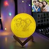 Prekiar Mond-Lampe, 20 cm, LED-3D-Druck, Mondlicht, mit Ständer, Touch-Steuerung und USB,...