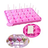 BEIAOSU Cake Pop Formen Backen, 120 Sticks Pop Cake Mould, Eiswürfelschalen, Silikon-Backform
