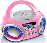 Tragbarer CD-Player   Boombox   CD/CD-R   USB   FM Radio   AUX-In   Kopfhreranschluss   CD Player  ...