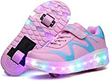 Aupast Unisex Kinder LED Rollschuhe Schuhe mit Rädern Jungen Mädchen LED Lichter Leuchtende...