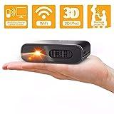 Artlii Mana Mini Beamer - WiFi Beamer DLP mit Eingebaute 5200mAh Akkus Klein Beamer unterstützt 3D...