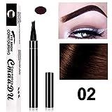 Jinxuny Augenbrauenstift mit Vier Spitzen, langlebig, wasserfest, flüssig, Augenbrauen-Stift 02#