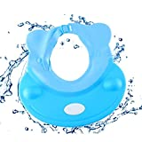 Bocotoer Sonnenschutzhaube, Badeschutz, Duschhut, weiches Silikon, für Erwachsene oder Kinder, Blau