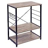 WOLTU RGB9309dc Küchenregal Standregal Mikrowellenhalter Bäcker Regal Metallregal aus Holz und...