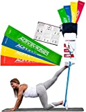 ActiveVikings Fitnessbänder Set 4-Stärken by Ideal für Muskelaufbau Physiotherapie Pilates Yoga...