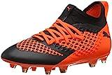 Puma Unisex-Kinder Future 2.3 Netfit FG/AG Jr Fußballschuhe, Schwarz Black-Shocking Orange 02, 34...