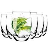 Krosno Wassergläser Saftgläser Trinkgläser | Set von 6 | 360 ML | Elite Kollektion | Perfekt für...