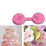 YuanNa Mini Silikon Kirsche Blumen Kuchen Fondantform Set Prägezucker Kunst Werkzeuge für Thema...