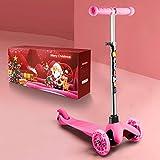 WeSkate Roller Kinder mit Verstellbare Höhe und leuchtende Räder Kinderscooter Dreiradscooter...