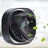 Renfox USB Ventilator 3 Geschwindigkeiten Mini Ventilator USB Tischventilator mit Windrichtung...
