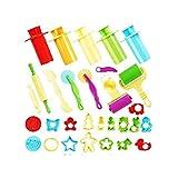 THE TWIDDLERS Kinder 30 Teile Werkzeug Kneten Küchenwerkzeug Set Für Playdoh, Plastilin,...