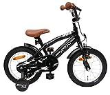 AMIGO BMX Fun - Kinderfahrrad für Jungen - 14 Zoll - mit Handbremse, Rücktritt, Lenkerpolster und...