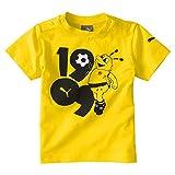 PUMA Kinder BVB Minicats Graphic Tee T-Shirt, Cyber Yellow, 92