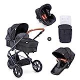 Hauck Pacific 3 Shop N Drive Kombikinderwagen 7 teilig bis 18 kg + Babyschale + Babywanne umbaubar...
