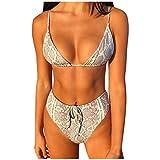 LIGESAY Bikini Damen Push Up Frauen Punkte Bikini Gepolstert Mollige Sets Zwei Stück Badeanzüge...