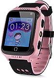 JBC GPS Uhr Kinder Telefon GPS Schulmodus SOS Notruf Smartwatch Kinder Kinderuhr ohne...