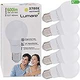 Lumare E27 LED Lampe 7W Ersetzt 60w 600 Lumen 5er Set Watt Glühbirne A60 Leuchtmittel 2700 Kelvin...