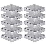 10 x Pfostenkappe für Zaunpfosten (101x101 mm) | Verzinktem Stahl | Pyramiden Form | Abdeckkappe...