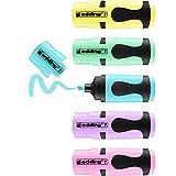 edding 7 Mini Textmarker - Pastell-Farben - 5 highlighter pens - Keilspitze 1-3 mm - Textmarker...