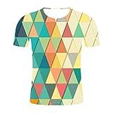 2020 Neueste Sommer Stil Mode Druck Kurzarm Tees Mnner Multicolor T-Shirt 3D Print top Shirt Bluse...