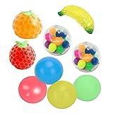 Gmuret 9 Stück Antistress Spielzeug Set mit 5 Stressbälle und 4 Sticky Wand Ball, Sensory Toys...