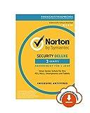 Norton Security Deluxe 2019 | 3 Gerte | 1 Jahr | PC/Mac/iOS/Android | Download, Aktivierungscode per...