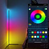 LED Standleuchten Smart Deckenfluter 20W mit RGB Stehlampe mit Fernbedienung Farbtemperaturen und...