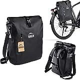 Borgen Fahrradtasche für Gepäckträger 3in1 Fahrrad Rucksack I Gepäckträgertasche I...