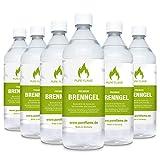 6 x 1L Brenngel für Gel Kamine & Gel Feuerstellen - Hergestellt aus Premium Bio-Ethanol 96,6% Vol....
