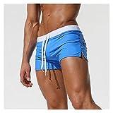 Männer Badebekleidung Badehose Badeanzug Mens Swim Slips Beach Shorts Shorts (Color : Blue, Size :...