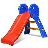 GOPLUS Kinderrutsche, Rutsche fr Kinder, Gartenrutsche Bunt, Wellenrutsche mit Basketballkorb,...