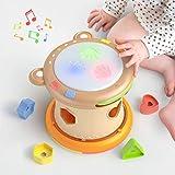 TUMAMA Baby Musik Spielzeug,Baby Trommel mit Licht und Sound,Musikwürfel Spielzeug Musikinstrumente...