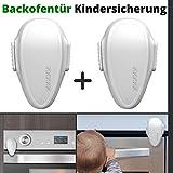 Backofentür Kindersicherung, 2er Set Ofentür Sperre zum Kleben, Doppel-Druck-Knopf, spezieller...