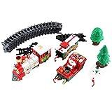 Bascar Spielzeugeisenbahn Set mit Lichtern und Geräuschen Weihnachtszug Set Eisenbahnschienen...