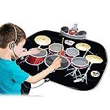 Tragbare Roll Up Drum Practice Pad Midi Drum Kit Kinder Frühe Bildung Drum Musik Decke Boden Fun...