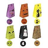 Kingsley 24 Stück Halloween-Partytüten aus Papier, Party-Tüten, Party-Tüten,...
