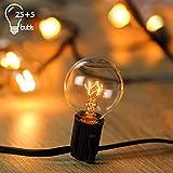 Wellead Lichterkette Weihnachten Glühbirnen Lichterkette Außen Wasserdichte String Licht Clip Hut...