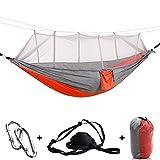 Camping Hngematte Outdoor,Mit Moskitonetz, Aufbewahrungstasche, Baumgurten,fr Reise Strand Garten...