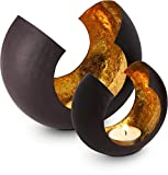 ROMINOX Geschenkartikel Teelichthalter//Sakrale mit Goldfolienauskleidung, Weihnachten, Grillparty,...