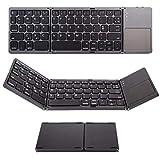 WFY Bluetooth Folding Keyboard, Scissor Tasten und Touch-Maus Entwurf Dedicated-Code Key Matte...