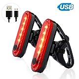 2Pcs Fahrrad Rücklicht, USB Wiederaufladbar Fahrradrücklicht, Wasserdicht Led Fahrrad...