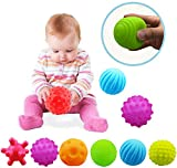 Vintage 6pcs Baby Infant Sensory Balls Structured Multi Ball Set Massage Soft Ball